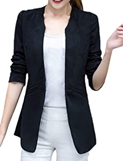 Tailleur Donna Moda Velluto Giacca da Tailleur Primaverile Autunno Monocromo Ragazza Morbidi Giubbino Comodo Manica Lunga Bavero Ufficio Business Slim Fit Blazer Outerwear
