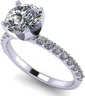 NANA 圆形明亮式切割单钻订婚戒指制造与纯 brilliance Swarovski 氧化锆