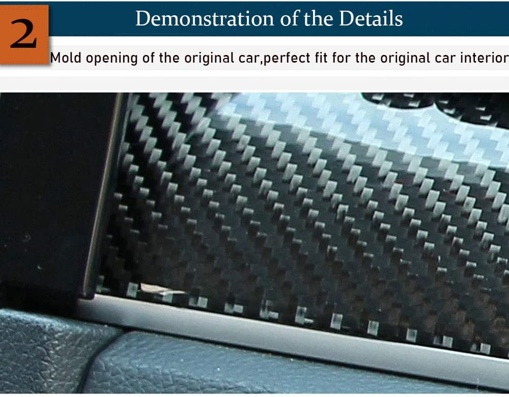 Boltry Carbon Fiber Interior Center Consoles Frame Cover ...
