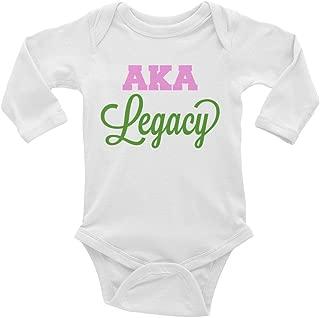 Alpha Kappa Alpha Infant Long Sleeve Onesie