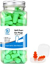 LYSIAN Ultra Soft Green Foam Earplugs 60 Pairs with Reusable Sliicone Earplug, 38dB SNR Ear Plugs, Sleeping, Snoring, Work...