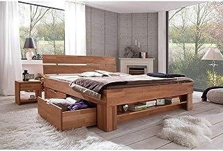 Elfo Nexos Trading Granada Lit futon avec tiroirs en cœur de hêtre huilé 180 x 200 cm