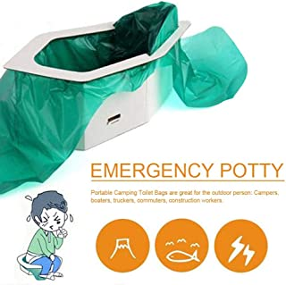 Portable Emergency Toilet Kit - Portable Potty Urinal and Liner Bags and Odor Absorbent Organic Media, for Adult and Children for Outdoor Traffic Jam Emergency