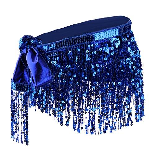 Sharplace Kostüm Bauchtanz Hüfttuch Rock Indischen Bauchtanz Gürtel Indian Taille Kette Belly Dance Röck - Blau, wie beschrieben