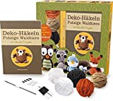 Deko-Häkeln Putzige Waldtiere: 12 liebevolle Projekte. Enthält alle Materialien für 2 Tiere
