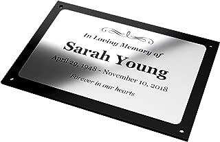 Best memorial plaque outdoor Reviews