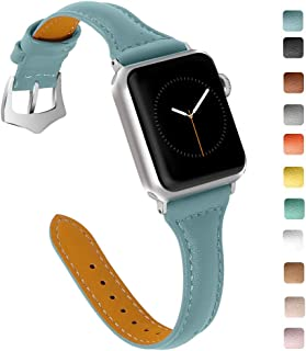OULUCCI Compatible Apple Watch Band 38mm 40mm, Top Grain Leather Band Replacement Strap for...