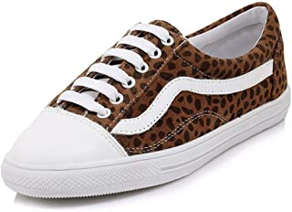 Large Size Shoes Small Size Women's Shoes New Casual Shoes Female Comfortable Single Shoes Female Leopard Print Women's Shoes Student Shoes (Color : Multi-Colored, Size : 46)