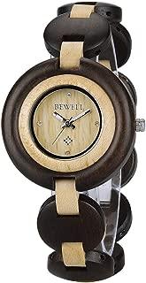 Wood Watch Women Handmade Lightweight Analog Quartz Dress Wrist Watches with Wooden Bracelet