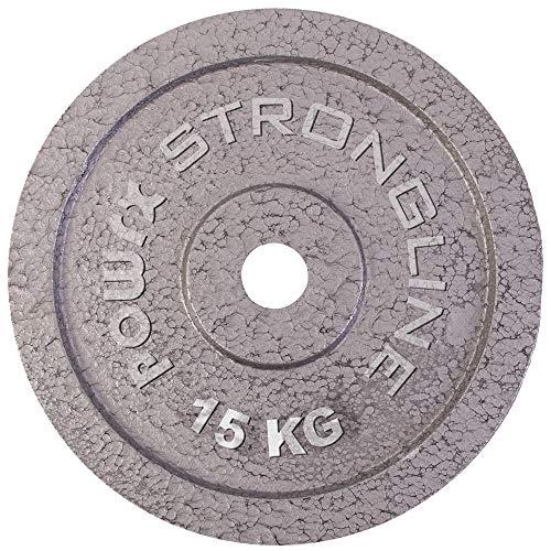 POWRX Hantelscheiben Set   Verschiedene Gewichtsvarianten 5-40 kg   Gusseisen Gewichte   30 mm Bohrung (2 x 15 kg)