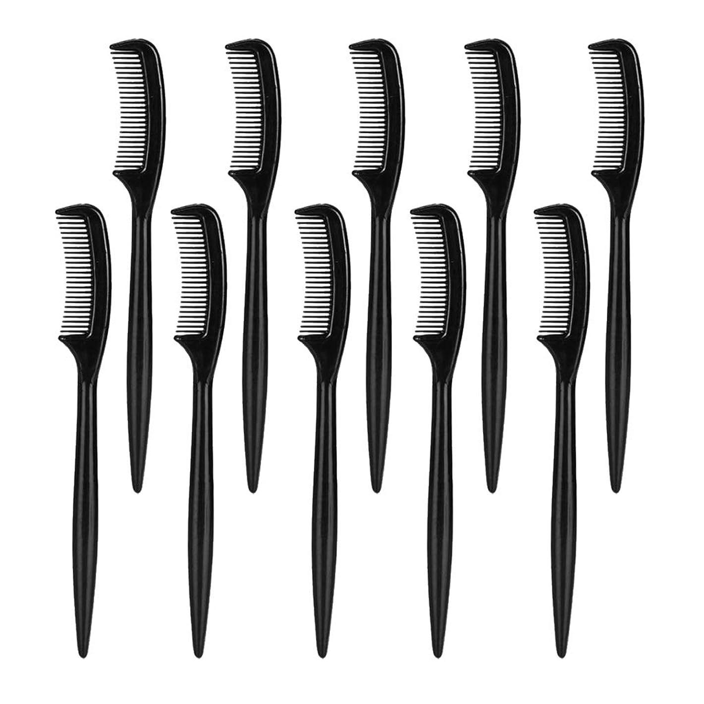 精神医学恨み徹底的に美容院の家の使用のための10部分のまつげ眉毛の使い捨て可能な櫛のブラシ
