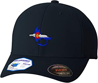 Custom Flexfit Hats for Men & Women Colorado Flag Fishing Fly Embroidery