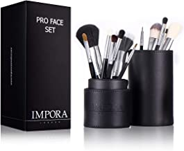Pro Makeup Brush Set with Case - Eyeliner, Pencil, Eyeshadow