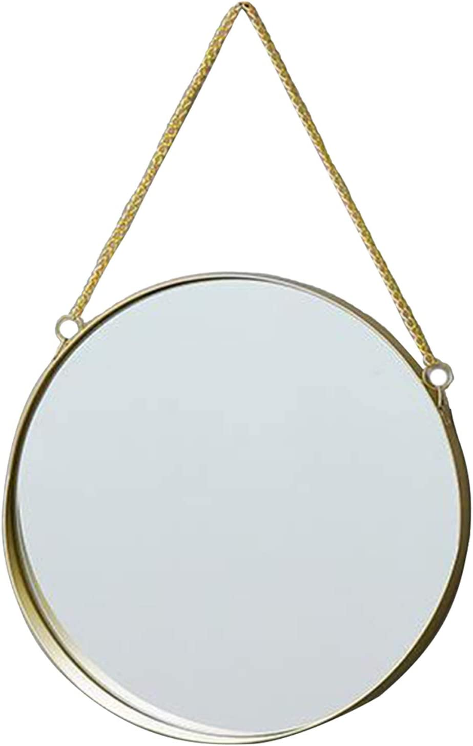 M Flameer Round Hanging Mirror Gold Decorative Geometry Wall Mounted Mirror with Chain for Home Decor in Living Room Bathroom Bedroom Entryway