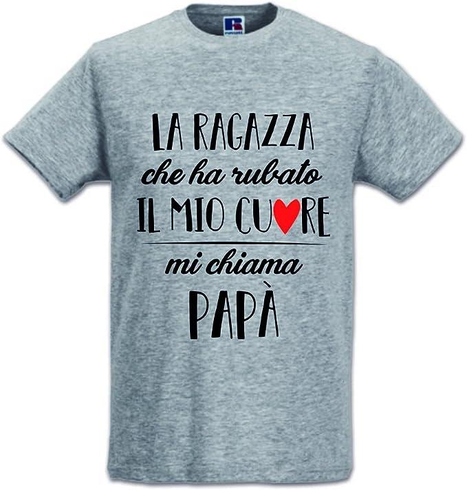 42 opinioni per T-Shirt Maglia Uomo Idea Regalo per Il Papa' Chi Ha Rubato Il Mio Cuore