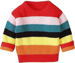K-Youth Blusa Punto Niña Invierno Navidad Arcoiris Suéter Niña Ropa Bebe Niño Recien Nacido Jersey Niñas Ropa Bebe Niña Ca...