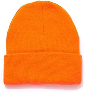Men's Thinsulate Acrylic Cuff Knit Hat – Blaze Orange Outdoor Hunting Camouflage