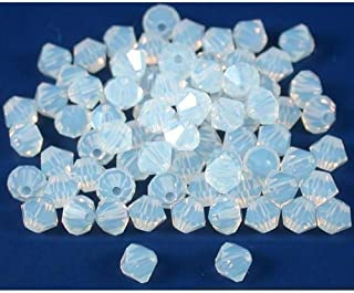 80 White Opal Bicone Swarovski Crystal Beads 5301 4mm