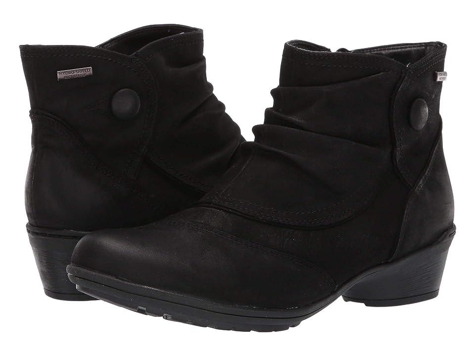 Rockport Raven Waterproof Button Boot (Black Nubuck) Women