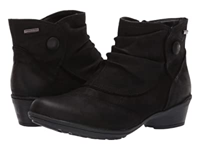 Rockport Raven Waterproof Button Boot (Black Nubuck) Women