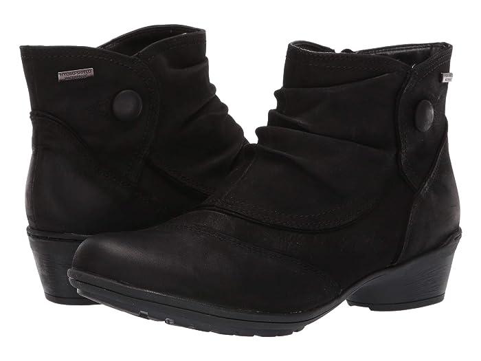 Rockport  Raven Waterproof Button Boot (Black Nubuck) Womens Boots