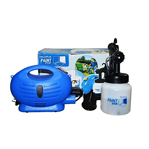 Paint Zoom CW-2005091009GM_Z1450 Plastic Electric Portable Spray Painting Machine Set (Blue, 7-Pieces)