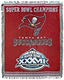 Officially Licensed NFL Tampa Bay Buccaneers 'Commemorative' Woven Tapestry Throw Blanket, 48' x 60', Multi Color