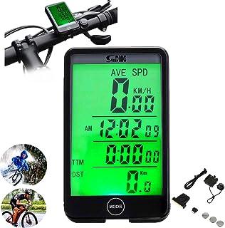 ARCELI SD-576C Odómetro a prueba de agua de pantalla grande táctil Cuentakilómetros inalámbrico para bicicleta con retroiluminación LCD, portátil, duradero, conveniente