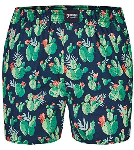 Happy Shorts Herren American Boxer Boxershorts Shorts Webboxer Kaktus - Cactus S - M - L - XL, Grösse:XL - 7-54, Präzise Farbe:Kaktus - Cactus