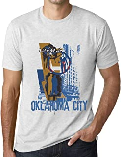 Men's Vintage Tee Shirt Graphic T Shirt Oklahoma City Lifestyle Vintage White