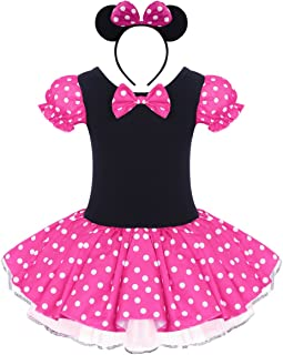 Baby Toddler Girl Costume Tutu Dress Ear Headband Outfit Summer Polka Dot Xmas Halloween Cosplay Fancy Dress Up