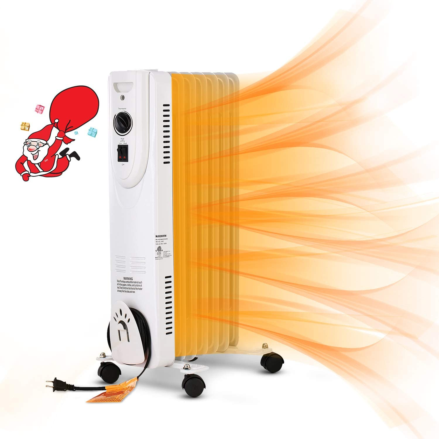 OVASTLKUY Space Heater Oil Oklahoma City Mall Radiator Tip-Over Manufacturer direct delivery 1500W Filled