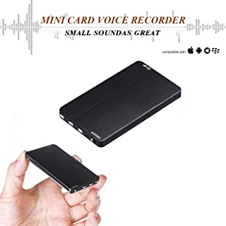 Mini Voice Activated Recorder - 8G Ultra-Thin Digital Audio Recorder Listening Device - 288 Hours Recording Capacity – More Than 80 Hours Battery Life