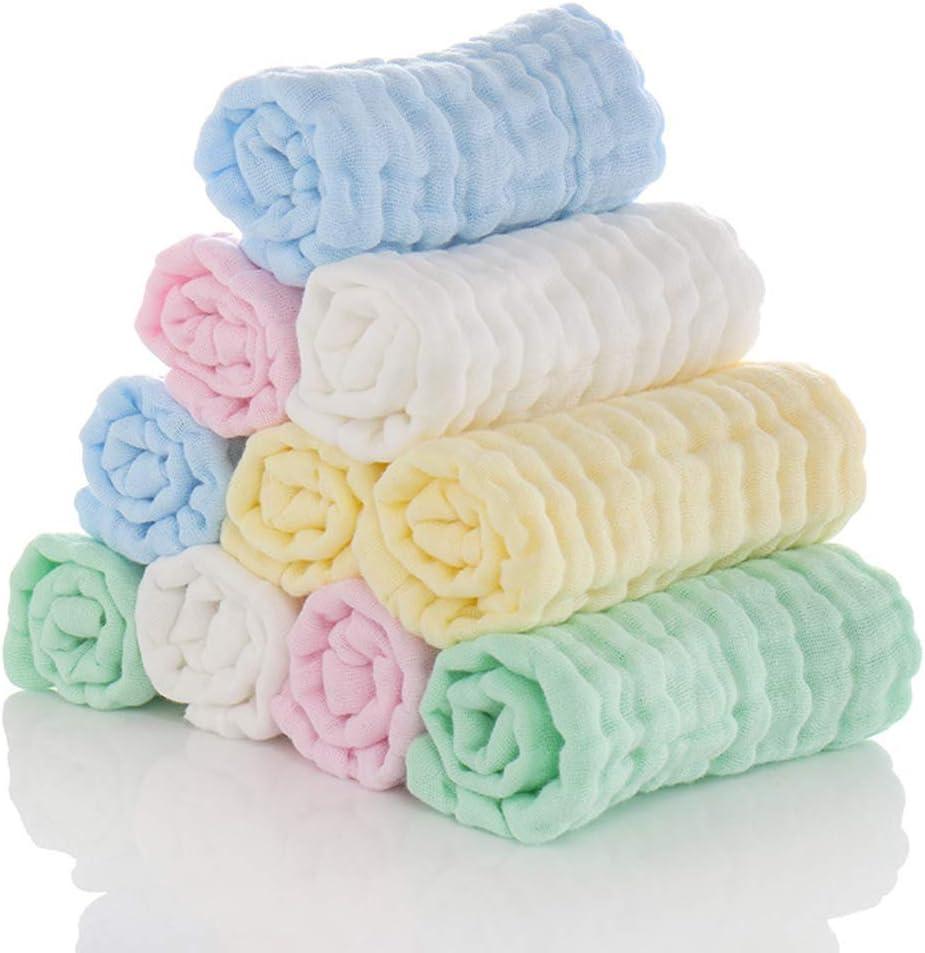 Geneic 5 unids//lote Pa/ñuelo de beb/é cuadrado toalla de cara de beb/é 30x30 cm muselina algod/ón toalla de cara beb/é pa/ño de limpieza