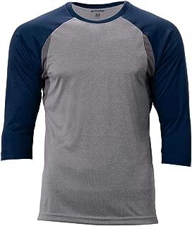 CHAMPRO Extra Innings 3/4 Sleeve Baseball Shirt; M; Grey