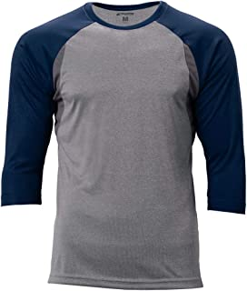 CHAMPRO Extra Innings 3/4 Sleeve Baseball Shirt; S; Grey