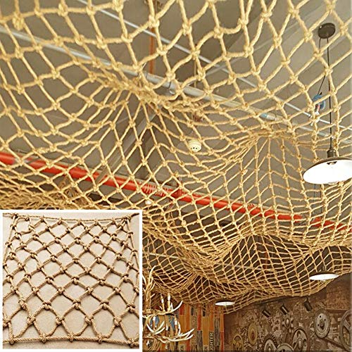 For Sale! YX Decorative Jute Hemp Netting, Children Safety Anti-Fall Rope Net Protection Fence Decor...