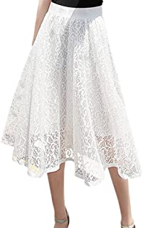 Best crochet lace midi dress with pleated skirt Reviews