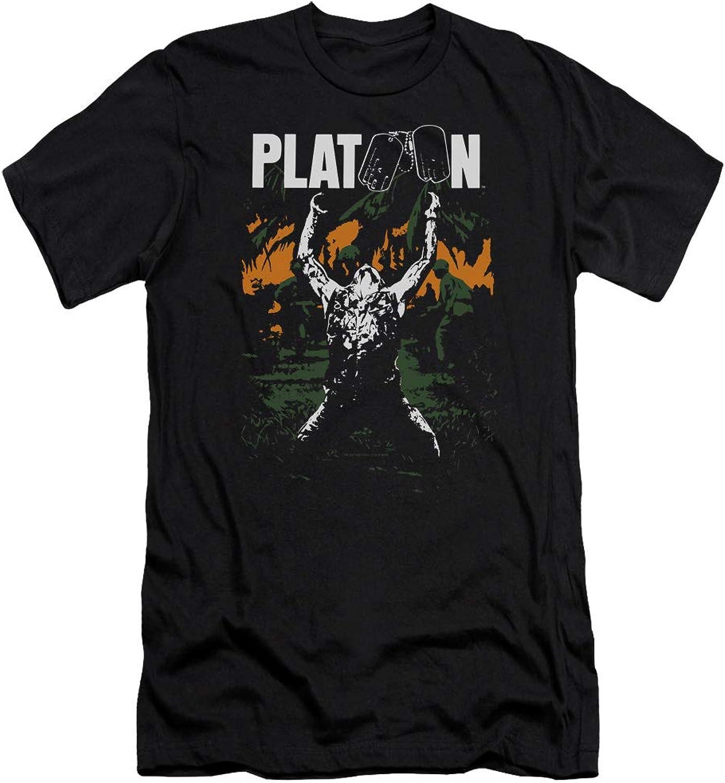 c525e5d474 Platoon - Mens Graphic Premium Slim Fit T-Shirt T-Shirt T-Shirt 3cd135