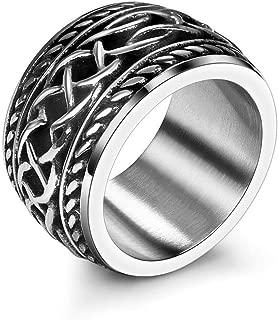 Gungneer Stainless Steel Irish Celtic Knot Punk Band Ring Jewelry Accessories Men Women