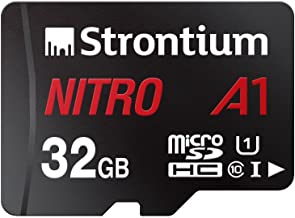 Strontium Nitro A1 32GB Micro SDHC Memory Card 100MB/s A1 UHS-I U1 Class 10 with High Speed Adapter for Smartphones Tablet...