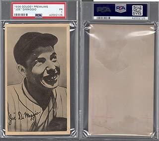 1936 Goudey R314 wide pen canadian (Baseball) card#9 Joe DiMaggio of the New York Yankees Grade Fair/Poor