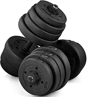 Yaheetech 66 LB Weight Dumbbell Set Fitness Adjustable Cap Gym/Home Barbell Plates Body Workout