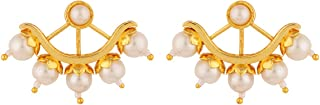 Voylla Stud Earrings for Women (Golden)(8907617856100)