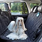 Nasudake P9 Scratchproof Waterproof Pet Hammock Seat Cover for Car, Durable Material for Machine Washable Non-Slip Rubber Backing Protector for Vehicle Car Bench Truck Boat with A Free Pet Tags