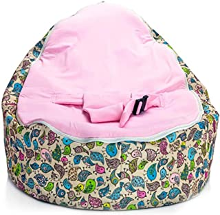 Fokine Baby Bean Bag Chair Cover, Newborn Baby Bean Bag Chair Lounger Sleeping Bed-Nursery Portable Seat Without Filling