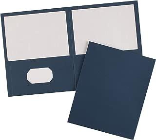 Avery Two-Pocket Folders, Dark Blue, 25 Covers