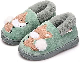 Toddler Boys Girls Slippers Fluffy Little Kids House Slippers Warm Fur Cute Animal Home Slipper