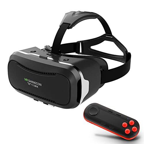 7d86e68e4803 3D Movies Games VR Headset w  iOS Android Bluetooth Remote Controller