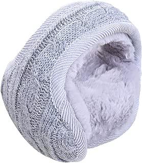 Unisex Winter Outdoor Earmuffs Knit Warm Ear Warmers Faux Furry Adjustable